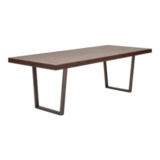 Jake Dining Table, Sumatra Brown, Pewter For Sale