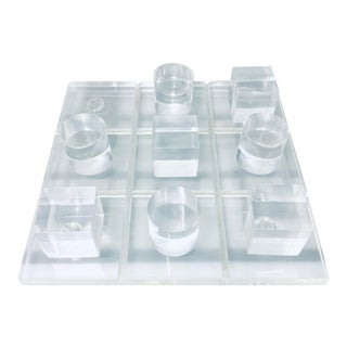 1970s Lucite Tic Tac Toe Game For Sale