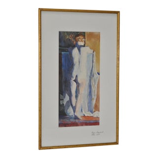 1930s Figurative Nude Watercolor by Roger Hayward For Sale