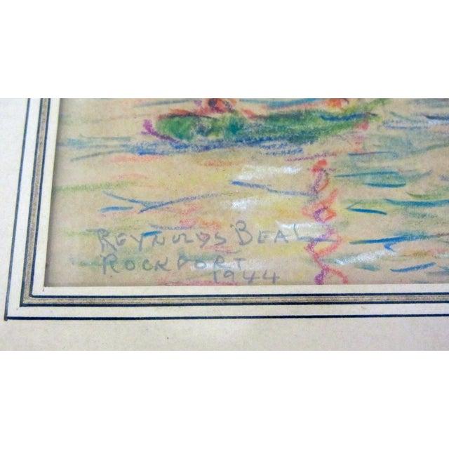 """""""Rockport"""" Signed Dated Original by ReynoldsBeal For Sale - Image 4 of 9"""