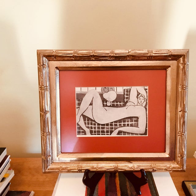 "Framed Print of Sketch for Matisse's ""The Pink Nude"" With Wooden Stand - Image 5 of 6"