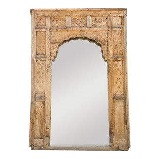 Marvelous 18th Century Haveli Floor Mirror For Sale