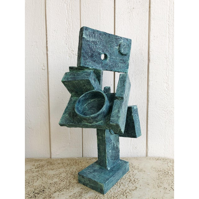 """Abstract Cubist Sculpture """"Dancer"""" by Bill Low For Sale - Image 13 of 13"""