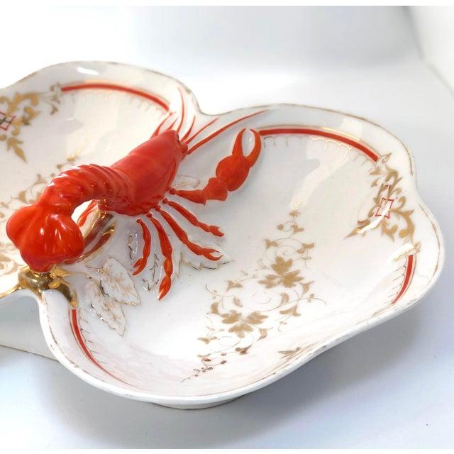 Orange Lobster Faïence Serving Platter For Sale - Image 8 of 12
