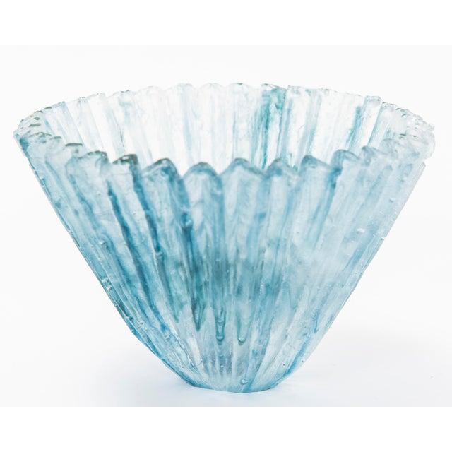 1980s Tessa Clegg Pate De Verre Vase For Sale - Image 5 of 5