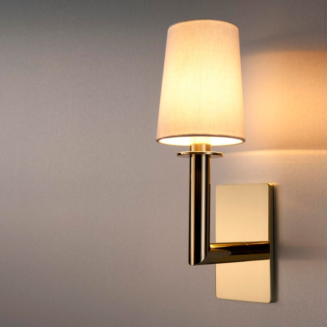 2010s Phoenix Day Polished Brass Jacob Sconces - a Pair For Sale - Image 5 of 8