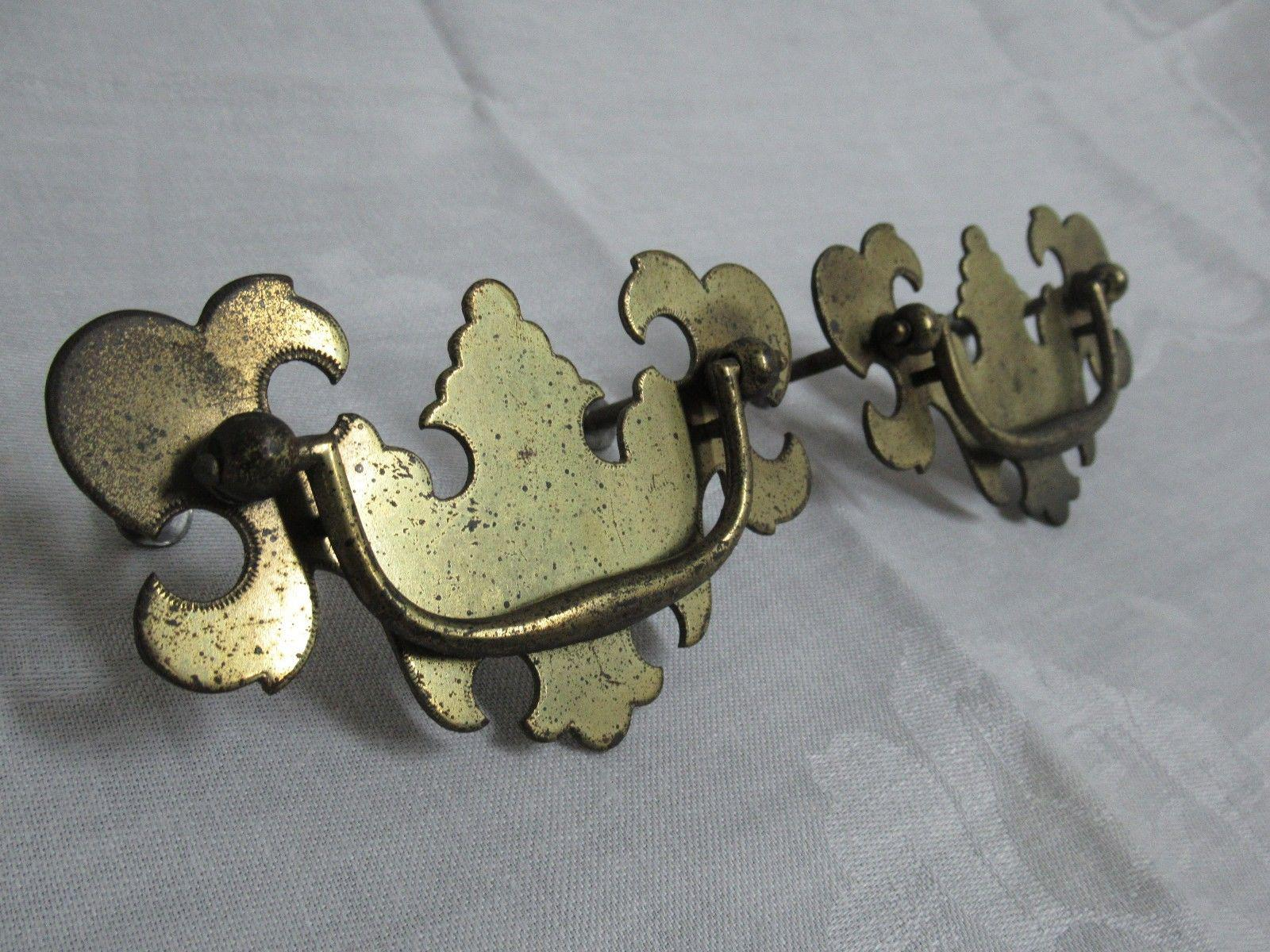 Ethan Allen Chippendale Dresser Drawer Pulls A Pair Image