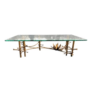 Brutalist Lotus Coffee Table by Silas Seandel For Sale
