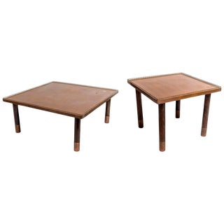Copper and Brass End Tables 'Two Sets - Two Sizes' For Sale