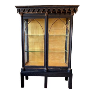 Antique Gothic Style Cabinet For Sale