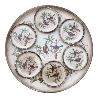 Vintage Horchow Collection Florentine Tray and Coasters - Set of 7 For Sale