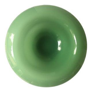 Large Decorative Rimmed Jadeite Bowl