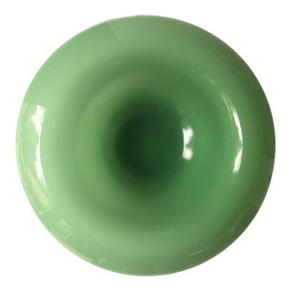Large Decorative Rimmed Jadeite Console Bowl For Sale