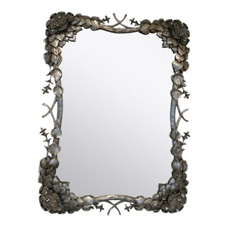 Climbing Hydrangea Mirror in Nickel For Sale