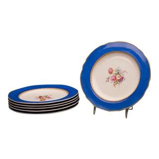 Set of Six Sèvres Style Copeland Dessert / Salad Plates, England C. 1875 For Sale