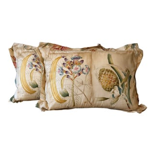 Clarence House Botanical Fabric Pillows For Sale