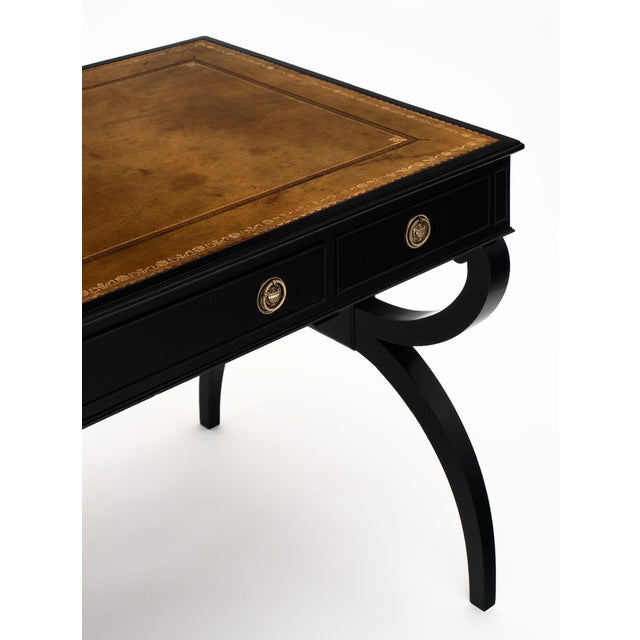 French Antique Curule Writing Desk For Sale - Image 4 of 10