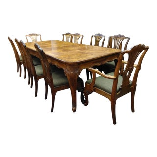 Early 20th Century Antique Chippendale Style Dining Set - 11 Pieces For Sale