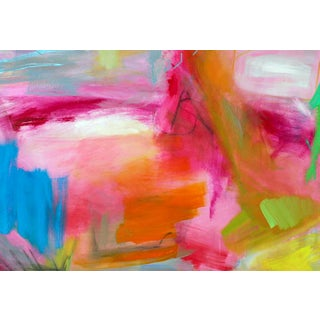 """""""Tropics"""" by Trixie Pitts Large Abstract Oil Painting Preview"""