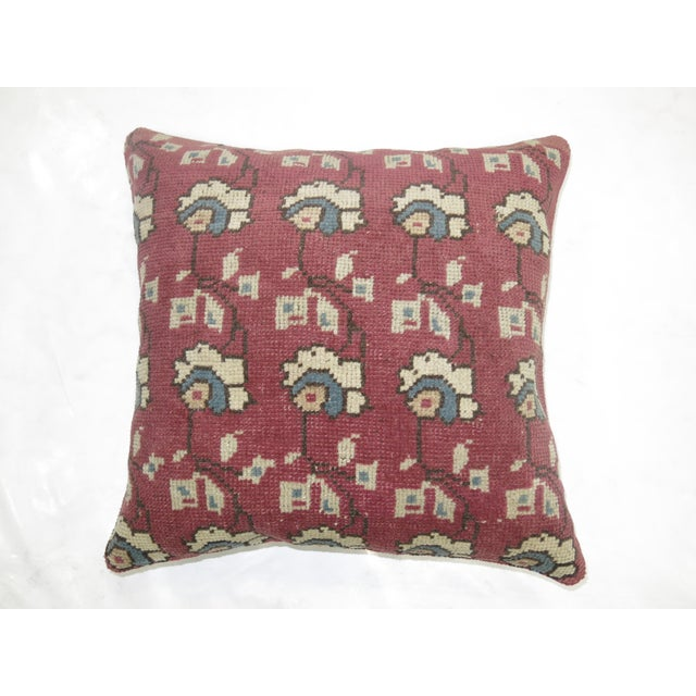 French Country Vintage Turkish Rug Pillow For Sale - Image 3 of 3