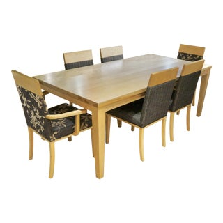 Contemporary Bermex Birch Dining Set - 7 Pieces For Sale