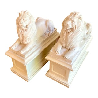 Regency Style Lion Bookends For Sale