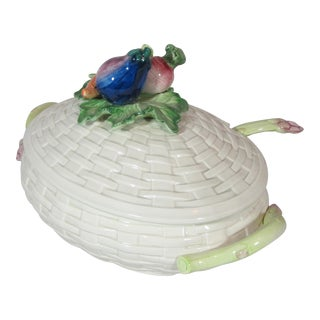 1980s Fitz & Floyd Vegetable Tureen With Ladle For Sale