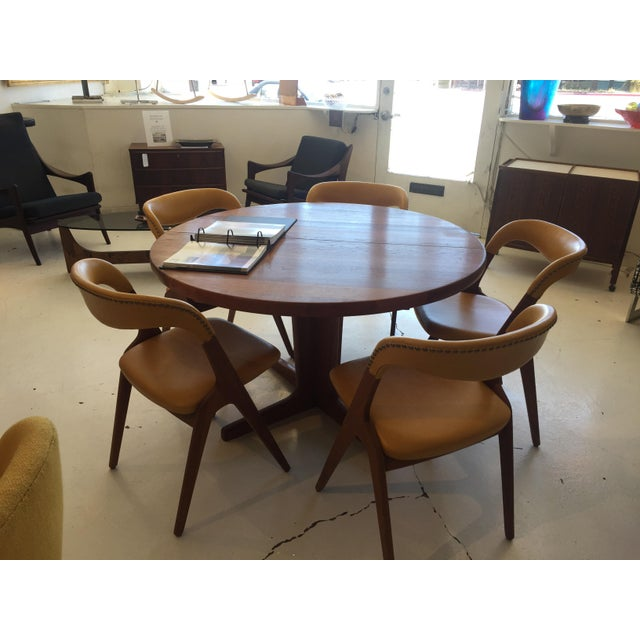 Mid-Century Modern Teak Dining Table/Chairs Set For Sale - Image 9 of 11