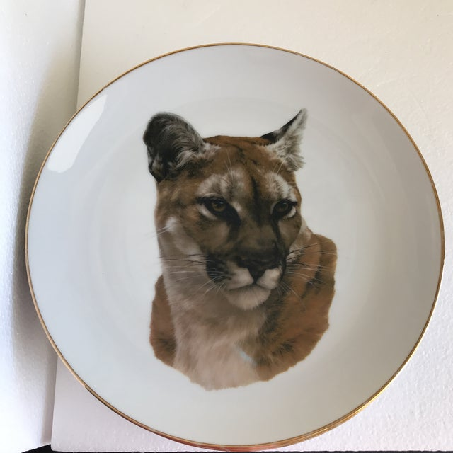 Gold Vintage Handcrafted Lion Cougar Plates, Set of Four For Sale - Image 8 of 10