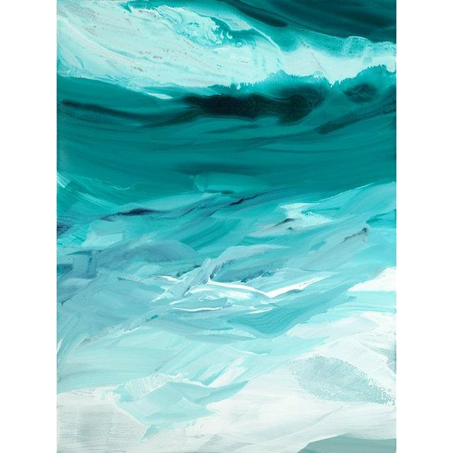 2010s Teodora Guererra, 'Emerald Waves' Painting, 2018 For Sale - Image 5 of 5