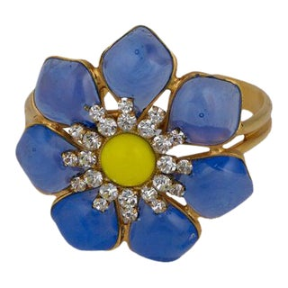 Mwlc Opaline Blue Marguerite Cuff For Sale