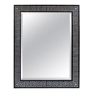 Bespoke Hand-Decorated Greek Key Pattern Mirror For Sale