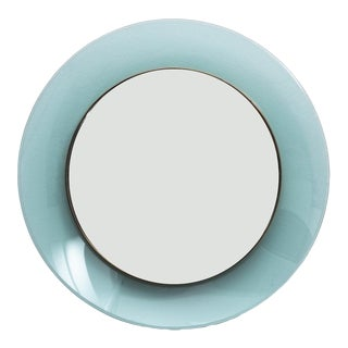 Max Ingrand Round Blue Mirror Fontana Arte Model 1699 For Sale