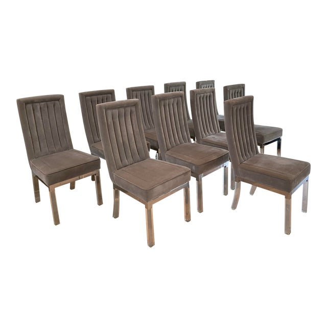 Mid 20th Century Dining Chairs Attributed to Charles Hollis-Jones - Set of 10 For Sale