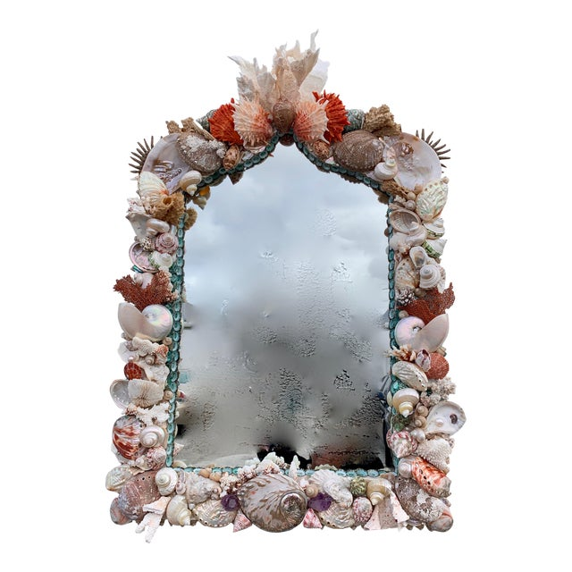 """Rustica"" Shell-Encrusted Mirror For Sale"