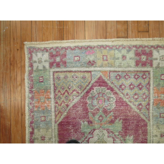 Green Vintage Turkish Rugs - a Pair - 2'8'' x 4'8'' For Sale - Image 8 of 9