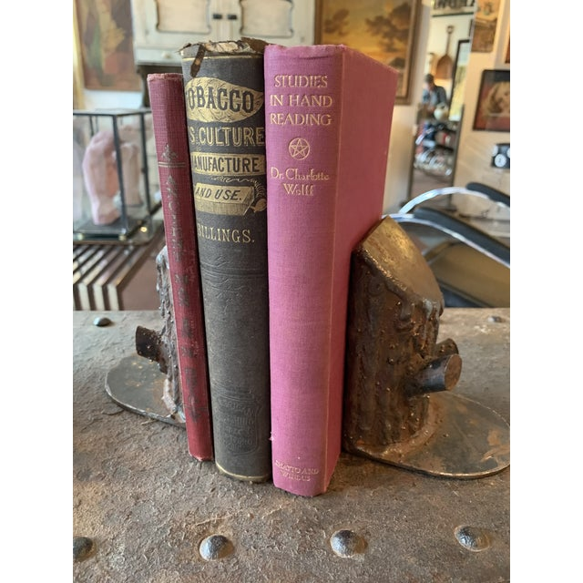 Vintage Mid Century Cast Iron Log Bookends- A Pair For Sale - Image 4 of 7