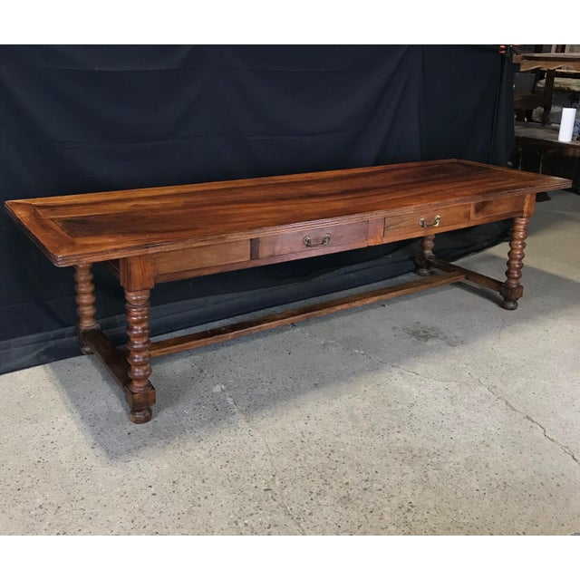 Antique French 19th Century Walnut Dining Table For Sale - Image 13 of 13
