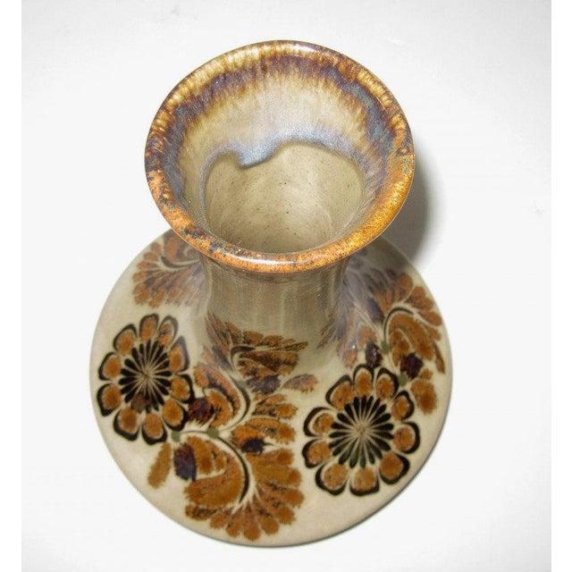 Brown Floral Vase by Carlos Villanueva Circa 1970s - Image 3 of 5