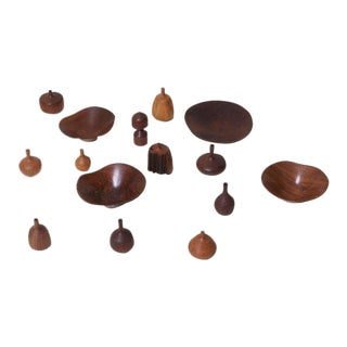 Large 15-Piece Rude Osolnik Turned Wood Collection For Sale