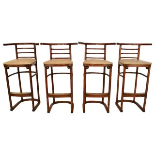 Joseph Hoffmann Bar Stools- Set of 4 For Sale