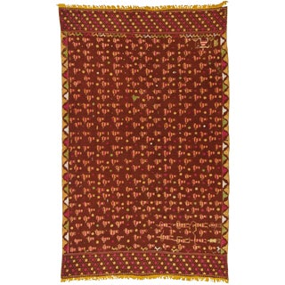 Late 19th Century Indian Handwoven Textile/Wall Hanging For Sale