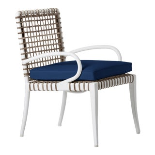 Delta Alpha Dining Arm Chair in Pacific Blue For Sale