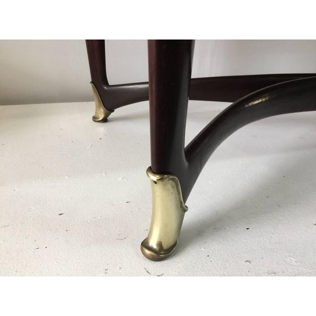 Paolo Buffa Reverse Painted Top and Walnut Italian Dining Table - Image 4 of 8