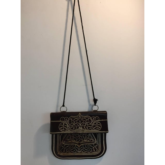 Cross Body Leather African Berber Tribal Moroccan Bag For Sale - Image 10 of 10