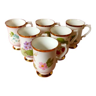 Royal Victoria Fine Bone China Mugs - Set of 6 For Sale