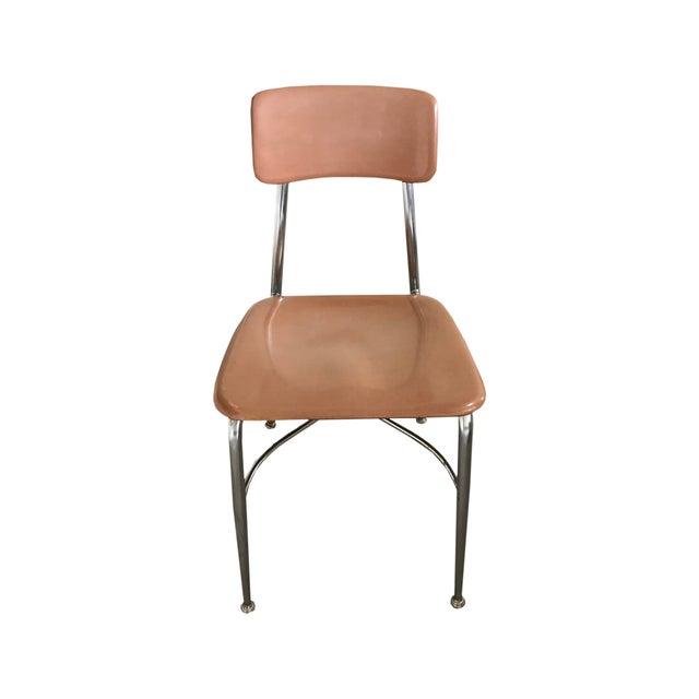 Mid-Century Modern Retro Plastic School Chairs- a Pair