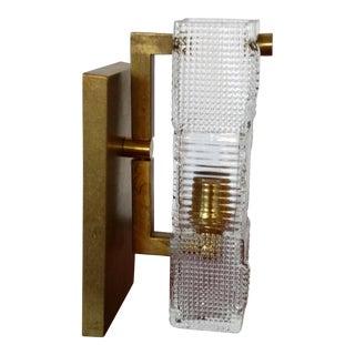 Murano Glass & Brass Sconce