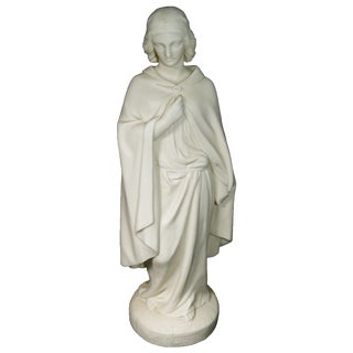 C. 1860 Parian Statue of Saint Hermione by w.c. Marshall For Sale