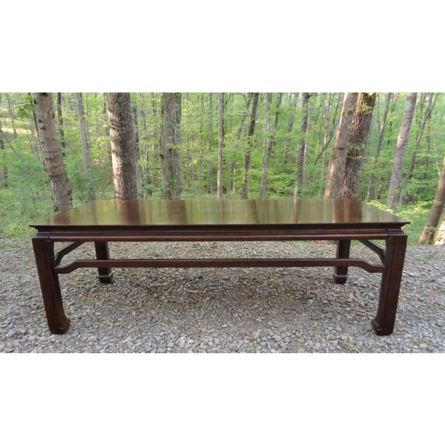 Mid Century Quartersawn Oak Chinoiserie Coffee Table For Sale - Image 13 of 13